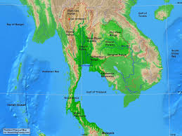 Physical Map Of Southeast Asia by Thailand U0027s Physical Geography A Learning Family