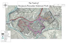 Valley Fair Map Trail Map Benjamin Banneker Historical Park And Museum