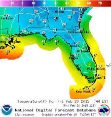 temperature map florida historic cold snap threatens freezing temps florida to stop