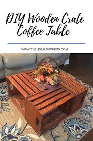 the 25 best wooden crate coffee table ideas on pinterest crate