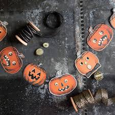 halloween decorations mini pumpkin banner jack o lantern