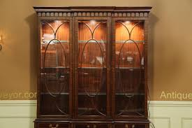 Small China Cabinet Hutch by Traditional Inlaid Mahogany China Cabinet Hutch Breakfront