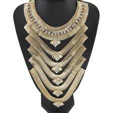 chunky gold necklace fashion images New design fashion style jewelry old gold necklace rhinestone bib jpg