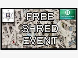 where to shred papers for free free document shredding event at national bank oswego il