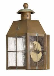 aged brass nantucket u003e exterior wall mount