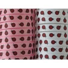 ladybug ribbon 5 yards ladybug print grosgrain ribbon