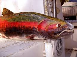 coho salmon 30 chainsaw wooden trophy fishing carving
