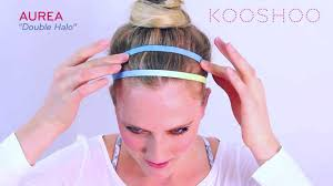thin headbands ways to wear a headband aurea by kooshoo