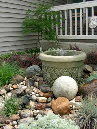 Backyard Rock Garden by Small Rock Garden And Fountain Waterfall Creations Pinterest