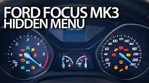 2012 ford focus oil light reset ford focus mk3 hidden menu mr fix info