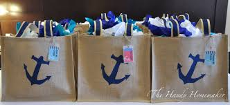 nautical gift bags diy nautical bag for a destination event or