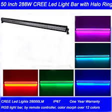 Led Light Bar Color Changing by Straight 50 Flood Spot Combo Beam 3w Cree Led 28000 Lumen With