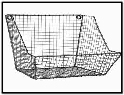 Wall Mounted Wire Shelving Wire Basket Shelves Hanging Wire Basket Organizers With Four Bird