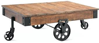 Rustic Coffee Table With Wheels Cart Coffee Table Cart 1 Industrial Cart Coffee Table Factory Cart