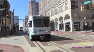 light rail baltimore md light rail in downtown baltimore maryland youtube