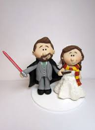 wars wedding cake topper personalised wars and harry potter and groom wedding