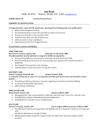 Nursing Resume Examples With Clinical Experience by Sample Lpn Resume Resume Cv Cover Letter Sample Resume Lpn Resume