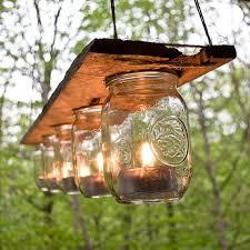 Garden Candle Chandelier Outdoor Jar And Wood Candle Chandelier Chandeliers Jar