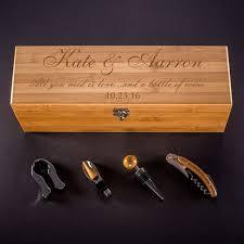 engraved box bamboo wine gift box custom engraved quote kustom products inc