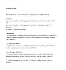 loan agreement template u2013 11 free word pdf documents download