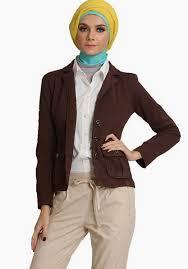 blazer wanita muslimah modern koleksi model blazer wanita muslimah terbaru kumpulan model baju