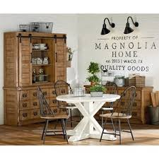 round table corning ca magnolia home by joanna gaines farmhouse 6170701b round table with x