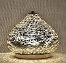 unique moroccan handmade silver lamp light desk lamp study