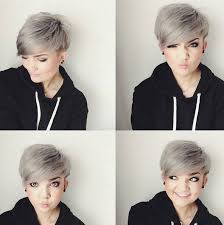 pixie grey hair styles side swept pixie grey balayage hair styles make things positive