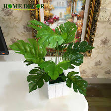 12pcs simulated ancient monstera branch palm turtle leaf leaves