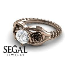 Rose Wedding Ring by Rose Engagement Ring Etsy