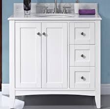 White 36 Bathroom Vanity 36 White Shaker Bathroom Vanity Purobrand Co Regarding Prepare 10