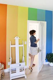 diy rainbow accent wall u2013 a beautiful mess