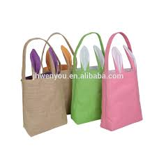 easter bags wholesale burlap bunny easter basket wholesale burlap bunny