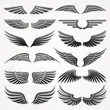 bird wings wings elements for design vector illustration