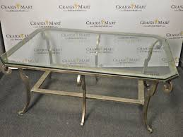 Ethan Allen Coffee Tables Ethan Allen Iron Glass Coffee Table Craigs Mart
