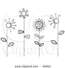 flower garden drawing black and white xtqrcup decorating clear