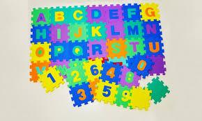 tappeti puzzle tappeto puzzle lettere e numeri groupon goods