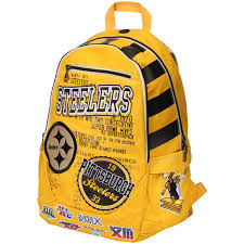 steelers home decor pittsburgh steelers historic backpack nflshop com