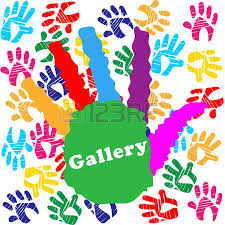 kids handprint meaning color handprints and colour stock photo