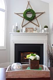 Winter Home Decor Winter Mantel Decor Using White And Green 2 Bees In A Pod