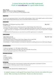 Sample Resume Hr by Mba Sample Resume Jennywashere Com