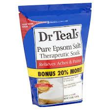 dr teal u0027s pure epsom salt therapeutic soak 7 2 lbs walmart com