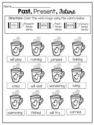 past present future tense worksheets for kindergarten best 25