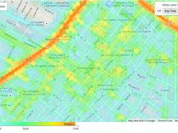 Metro Center Map by Mapping The Noise Levels At Every Point Around Los Angeles Curbed La
