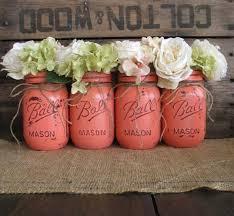 Ball Jar Centerpieces by Mason Jars Ball Jars Painted Mason Jars Flower Vases Rustic