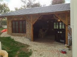 carport porte cochere nearly finished carport bar grill room wood storage selfmade