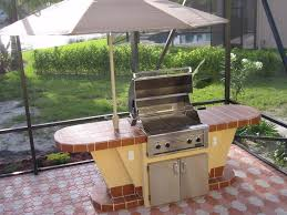kitchen simple patio with l shape cabinet made of brick as