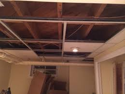 Lights For Drop Ceiling Basement by Drop Ceiling Vs Bare Ceiling