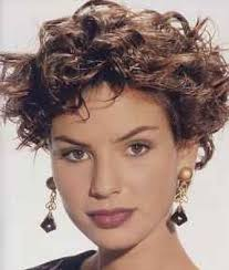 short layered curly hairstyles girl with old fashioned short