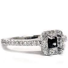 semi mount engagement rings 1 2ct princess cut semi mount engagement ring setting 14k white gold